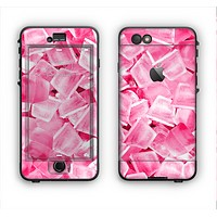 The Hot Pink Ice Cubes Apple iPhone 6 Plus LifeProof Nuud Case Skin Set
