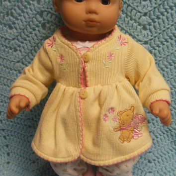 "AMERICAN GIRL Bitty Baby Clothes ""Winnie the Pooh"" (15 inch) doll outfit  top sweater dress leggings booties socks headband Disney"