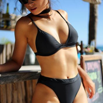 Venice Beach High Waisted Swimsuit Bottom