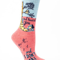 I Heard You & I Don't Care Women's Socks
