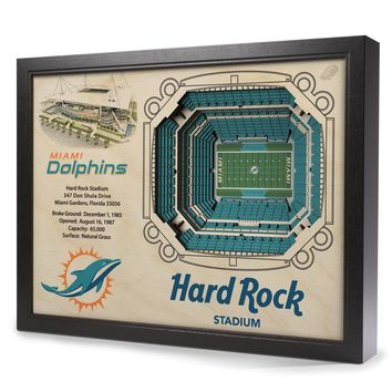 Miami Dolphins 25-Layer StadiumView 3D Wall Art