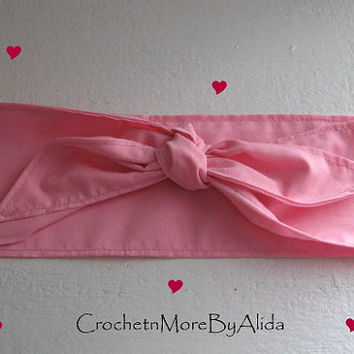 Hair Bandana, Rockabilly 50s Bandana, SALE, Bandana Headband, PINK  Bandana, BOHO Hairband, Women and Teens, Fabric Headband, HairBand