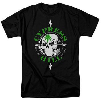 Cypress Hill T-Shirt Skull and Arrows Black Tee