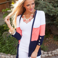 When I Find You Cardigan Coral