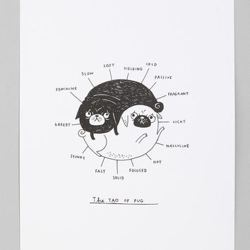 Urban Outfitters - Gemma Correll For Society6 The Tao Of Pug Art Print