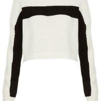 Knitted Textured Crop Jumper - Rave New World - Collections - Topshop USA