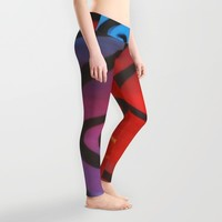 Dusk Abstract Leggings by DuckyB (Brandi)