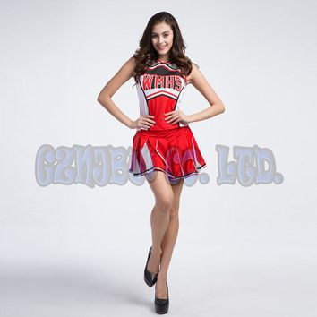 adult women Cheer leader Fancy Dress Queen of Halloween Cheer team uniform party Outfit