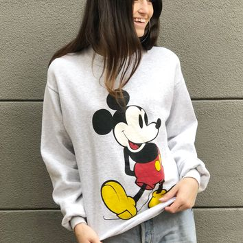 Grey Mickey Sweatshirt