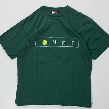 Tommy Hilfiger Tennis Ball T-Shirt Size XL