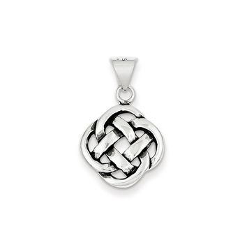 Sterling Silver Antiqued Celtic Knot Pendant