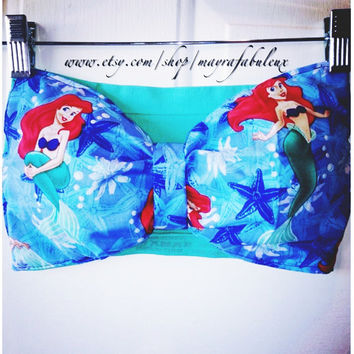 The Little Mermaid Bow Bandeau by mayrafabuleux on Etsy