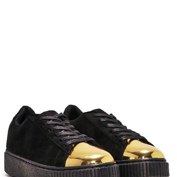 Keep Me On My Toes Metallic Sneaker