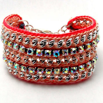Dream On Designer Fashion Bracelet with Chains & by GetShackled