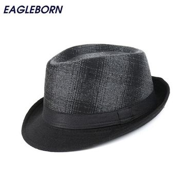 Fashion Brand new men Casual Fedora Hats printed cap Chapeu Winter Panama Jazz Gangster Caps keep warm 58cm gorras