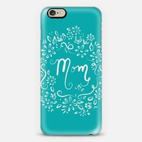 Mom (teal) iPhone 6 case by Lisa Argyropoulos | Casetify