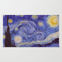 Vincent Van Gogh Starry Night Rug by Art Gallery