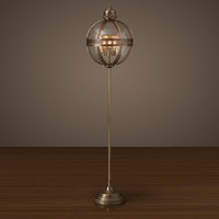 Victorian Hotel Floor Lamp - Antique Brass
