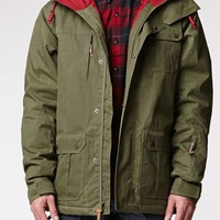 Quiksilver Storm Snow Jacket - Mens Tee - Green