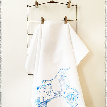 Scooter Flour Sack Towel