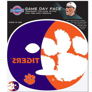 Clemson Tigers Game Face Temporary Tattoo CGFD69