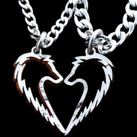 Wolf Love Couples Necklace
