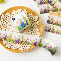 JE105 3CM Wide Creative Colorful Plants Washi Tape Adhesive Tape DIY Scrapbooking Sticker Label Masking Tape