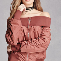 Rehab Satin-Lined Bomber Jacket