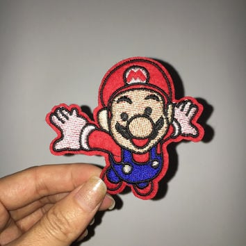 game patch mario maurer embroidered patch embroidery patch iron on patch sew on patch