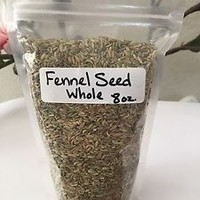 Fennel Seed, Whole, 8oz, - FREE Ground Ginger Curry Garlic Powder - See Details