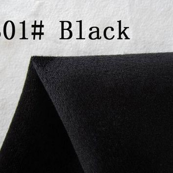 301# black Super soft velvet fabric microfiber velboa hair height 0.5-1.5mm for DIY stuffed toy pillows(10 pieces)