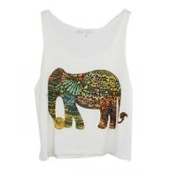 Cute Elephant Print Tank Top