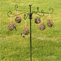 Six-Arm Bird Feeder And Hanging Seed & Nut Balls