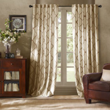 Bombay® Garrison Rod Pocket/Back Tab Window Curtain Panels