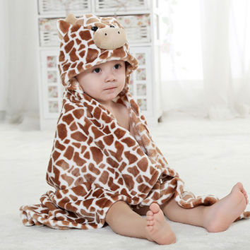 2016 New Fashion Hot Sale Bath Towel Soft And Comfortable Blanket Toddler Boy Girls Bathrobe Suit all Seasons gTRQ0005