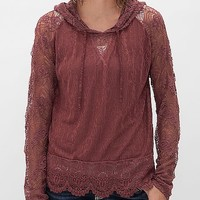 BKE Red Lace Hoodie