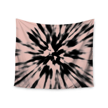 "Nika Martinez ""Tie Dye Rose"" Pink Abstract Wall Tapestry"