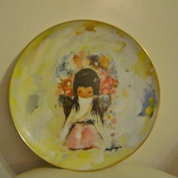 Ted DeGrazia Flower Girl Plate Collectors Limited Edition