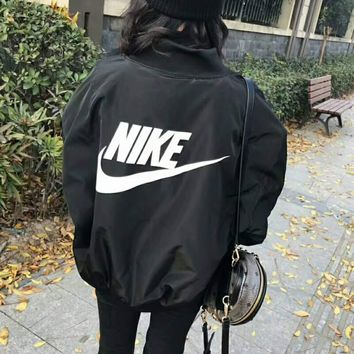 NIKE Women Fashion Long Sleeve Cardigan Bread Down Coat Cotton-padded Clothes Jacket G-WMGCD-2