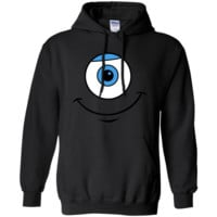 Disney Monsters Inc. Mike Eye Smile Graphic T-Shirt G185 Gildan Pullover Hoodie 8 oz.