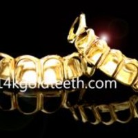 gold teeth grillz - JBY210102 BOTTOM 1pc OPEN FACE - Gold - 1pc , 2pc or 4pc Gilllz - catalog categories