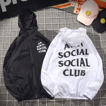 DCCK2 1369 ASSC Anti Social Social Club Casual Letter printed Loose Coat