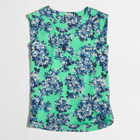 Factory printed drapey sleeveless top : Sleeveless | J.Crew Factory
