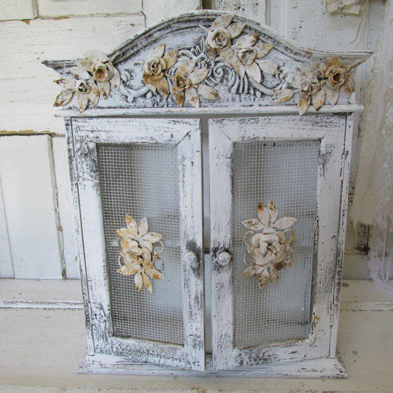 Pink Wooden Cabinet Shabby Chic Hand From AnitaSperoDesign On