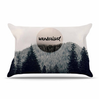 "Robin Dickinson ""Wanderlust"" Gray Black Pillow Case"