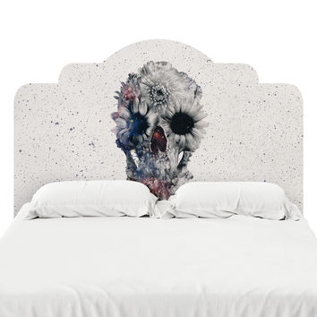 Floral Skull 2 Headboard Decal