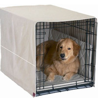 Front Door Dog Crate Cover - Extra Large/Khaki
