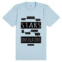 TFiOS: My Thoughts Are Stars-Unisex Light Blue T-Shirt