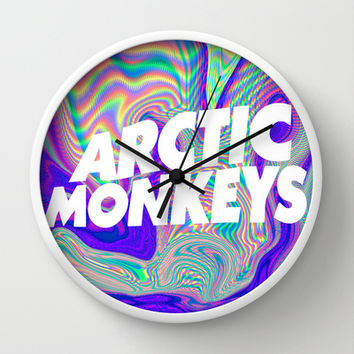 Psychedelic Arctic Monkeys Logo Wall Clock by Julia