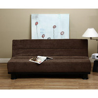 Cocoa Velvet Like Sofa Bed | Overstock.com